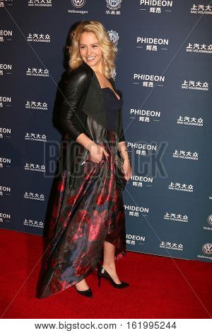 LOS ANGELES - DEC 15:  Gage Golightly at the 21st Annual Huading Global Film Awards - Arrivals at The Theatre at The ACE Hotel on December 15, 2016 in Los Angeles, CA