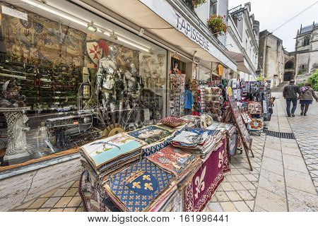 Amboise,France-June 2016: at the streets of Amboise town