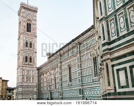 Cathedral And Tower On Piazza Del Duomo In Morning