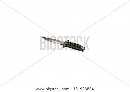 A little toy-keychain knife isolated on white background