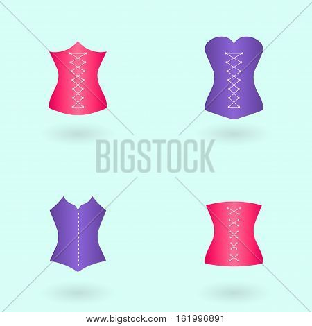 Icon corset vector illustration. Body correction with the help of underwear.