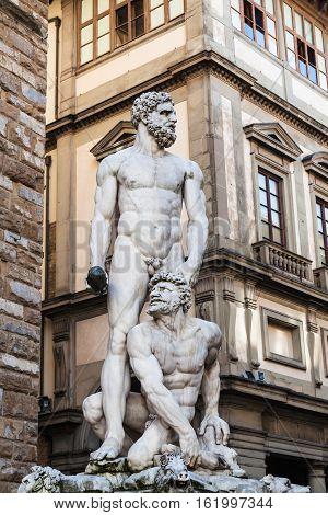 Statue Hercules And Cacus On Piazza Della Signoria