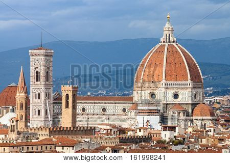 View Of Cathedral In Florence City