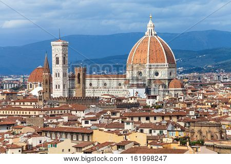 View Of Duomo In Florence Town