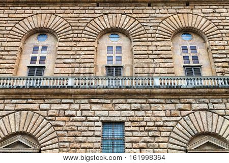 Wall Of Palazzo Pitti In Florence