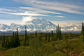 Mt McKinley in Denali National Park taken from Wonder Lake. poster
