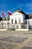 Presidential residence in Grassalkovich Palace on Hodzovo Square, Bratislava, Slovakia poster