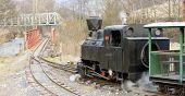 last day of service of CKD steam locomotive n. 5 (1.4.2008), Ciernohronska Railway, Slovakia poster