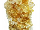 citrine semigem geode crystals geological mineral isolated poster