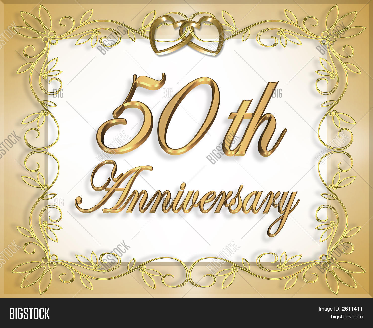 50Th Wedding Anniversary Invitation Image & Photo | Bigstock