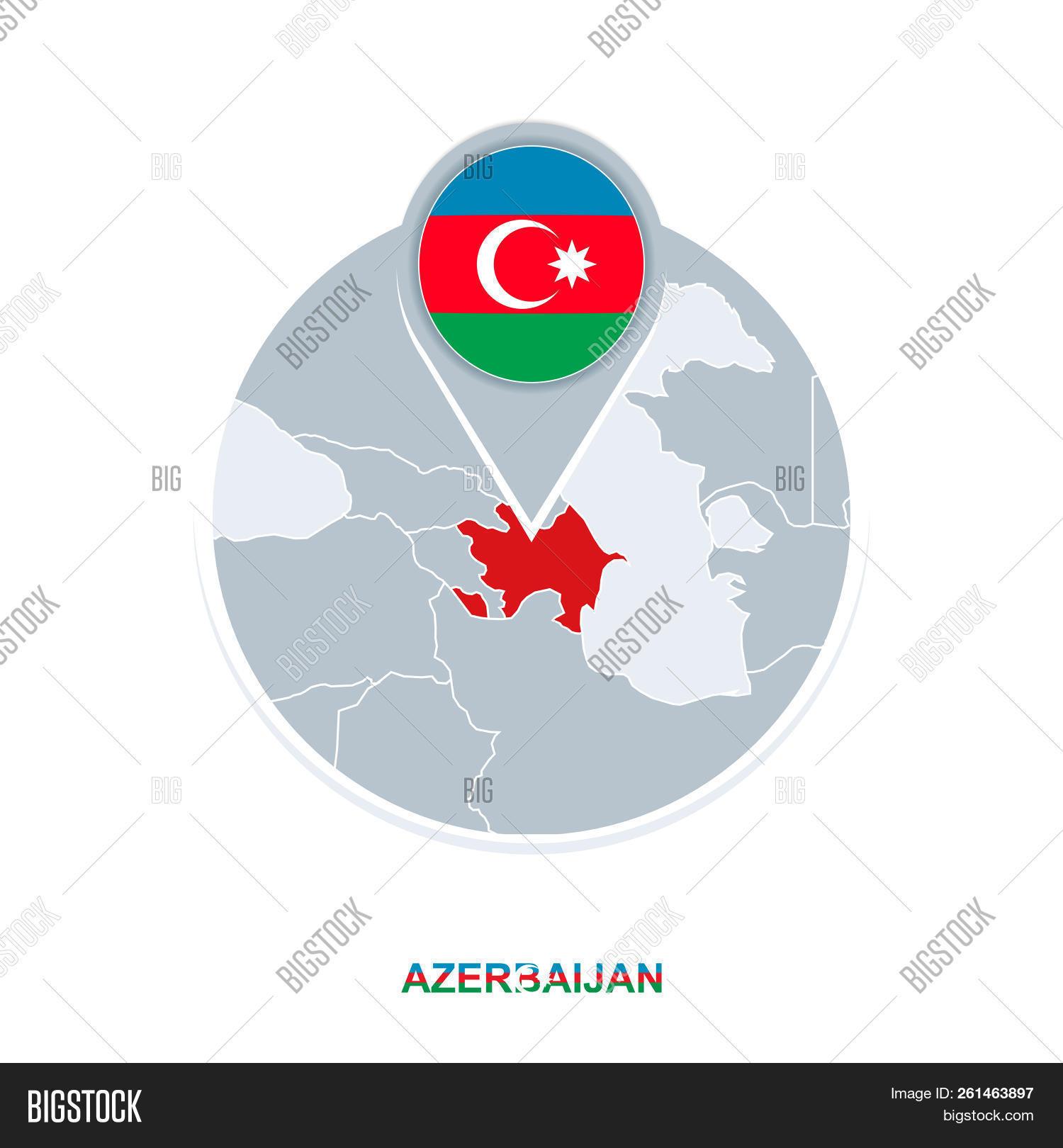 Azerbaijan Map Flag Vector Photo Free Trial Bigstock