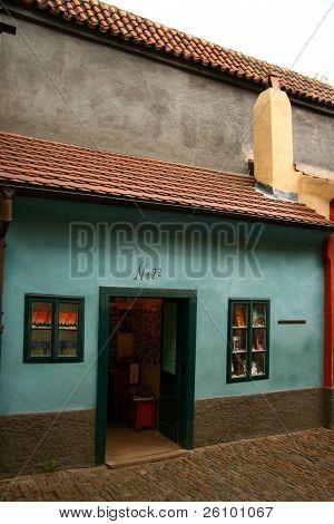 Prague. Golden Lane. Franz Kafka's sister's house. poster