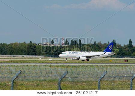 Kiev, Ukraine - August 05, 2016:  Aircraft Company Air Astanf In Boryspil International Airport