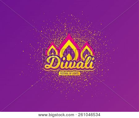 Diwali Festival Greeting Card. Hindu Festive Modern Background. Indian Rangoli Concept. Deepavali Or