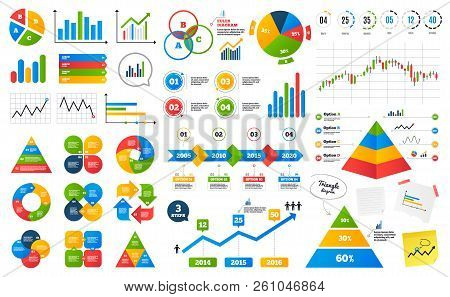 Business Data Graphs. Financial And Marketing Chart. Timeline Infographics. Presentation Slide Eleme