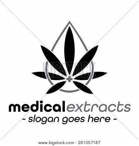 Medical Extracts Design Template. Vector And Illustrations.