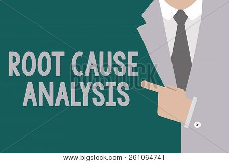 Conceptual Hand Writing Showing Root Cause Analysis. Business Photo Text Method Of Problem Solving I