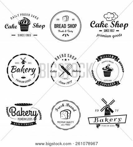 Bakery & Cakes Vintage Logo. Vintage Bakery Logo