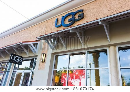Orlando, Usa - May 8, 2018: Ugg Australia Store At Store In Shopping Mall Orlando Premium Outlet At
