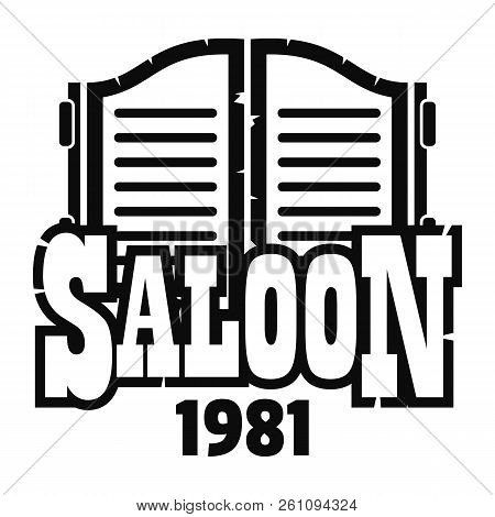 Saloon Texas Logo. Simple Illustration Of Saloon Texas Vector Logo For Web Design Isolated On White