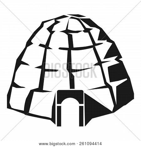Eskimo Igloo Icon. Simple Illustration Of Eskimo Igloo Vector Icon For Web Design Isolated On White