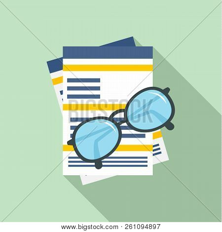 Paycheck Paper Icon. Flat Illustration Of Paycheck Paper Vector Icon For Web Design