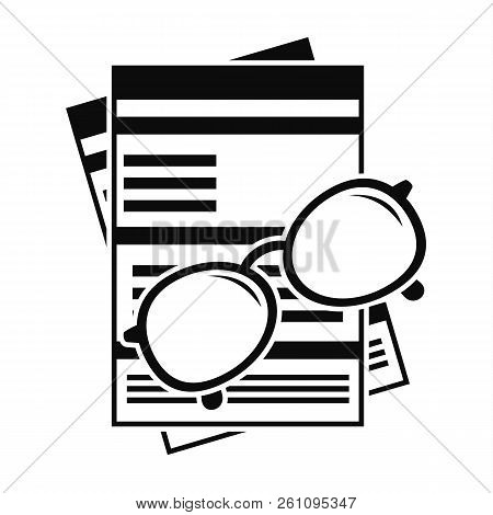 Paycheck Paper Icon. Simple Illustration Of Paycheck Paper Vector Icon For Web Design Isolated On Wh