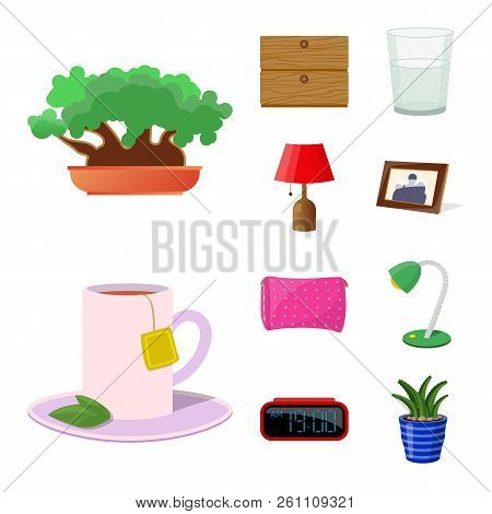 Vector Design Of Dreams And Night Symbol. Set Of Dreams And Bedroom Stock Vector Illustration.