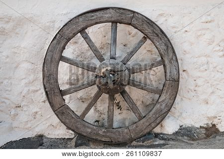 Old Wooden Wheel - Antique Horse Carriage Wheel  -