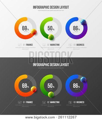 Marketing Analytics Presentation Vector Illustration Template Bundle. Company Business Data Report R