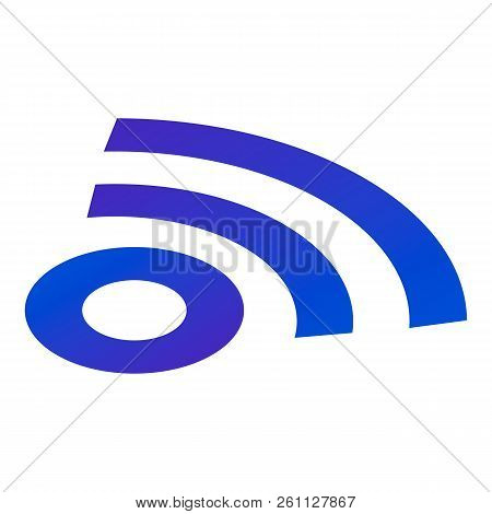 Sign Wifi Icon. Isometric Of Sign Wifi Vector Icon For Web Design Isolated On White Background