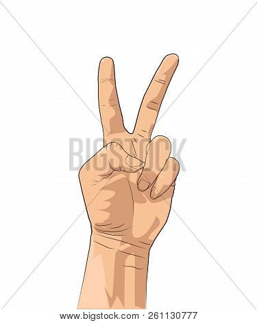 victory peace hand vector photo free trial bigstock victory peace hand vector photo