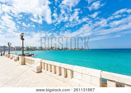 Otranto, Apulia, Italy - Lookout From The Promenade Of Otranto In Italy