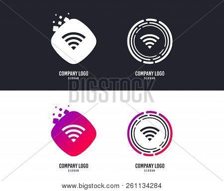 Logotype Concept. Wifi Sign. Wi-fi Symbol. Wireless Network Icon. Wifi Zone. Logo Design. Colorful B