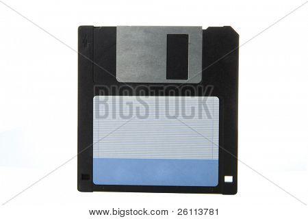 floppy disk over white background