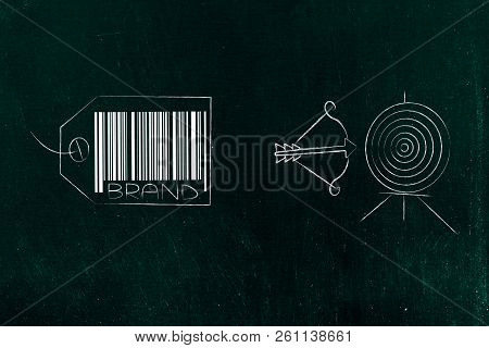 Potential Customers And Marketing Conceptual Illustration: From Brand To Targeting The Right Market