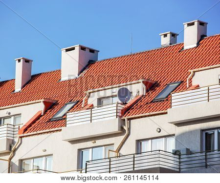 New Residential Building Color Image Stock Photos
