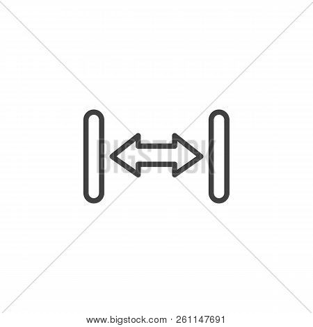 Resize Arrow Outline Icon. Linear Style Sign For Mobile Concept And Web Design. Left, Right Resize S
