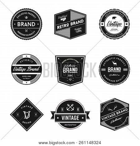 Vintage Retro Brand Badges. Vintage Logo Vector