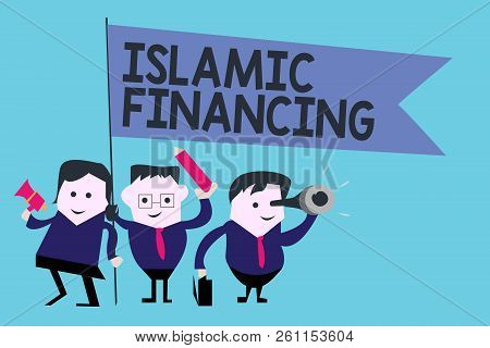 Conceptual Hand Writing Showing Islamic Financing. Business Photo Text Banking Activity And Investme