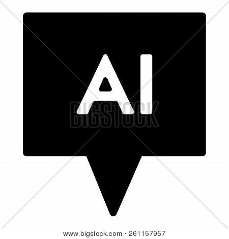 Chat Solid Icon. Artificial Intelligence Vector Illustration Isolated On White. Chatbot Glyph Style