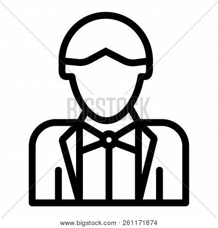 Newly Married Man Line Icon. Groom Vector Illustration Isolated On White. Wedding Outline Style Desi