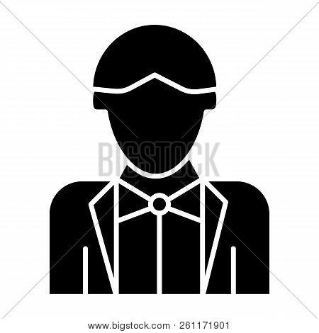 Newly Married Man Solid Icon. Groom Vector Illustration Isolated On White. Wedding Glyph Style Desig