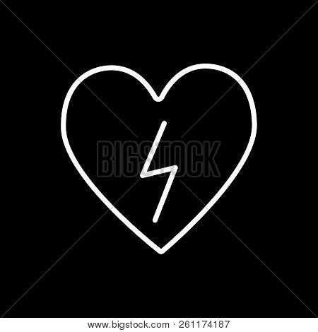 Heart Lightning Line Vector Photo Free Trial Bigstock