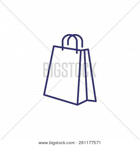 Shopping Bag Line Icon. Package, Purchase, Gift. Shopping Concept. Vector Illustration Can Be Used F