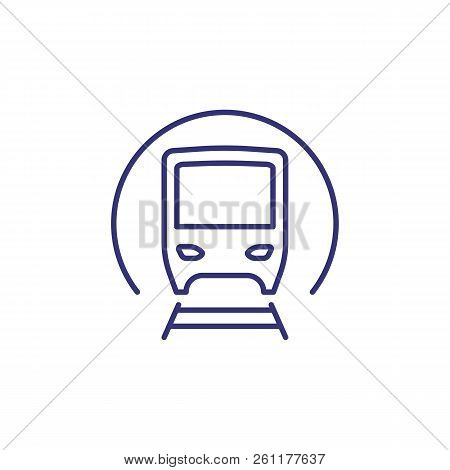 Subway Train Line Icon. Tunnel, Metro, Station. Transport Concept. Vector Illustration Can Be Used F