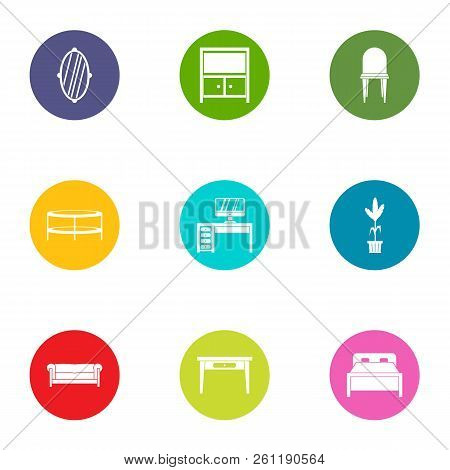 Antiques Icons Set. Flat Set Of 9 Antiques Vector Icons For Web Isolated On White Background