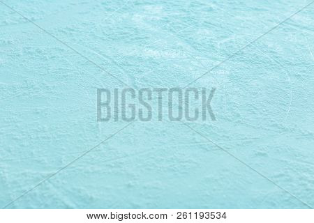 Empty Ice Rink For Hockey Playing Abstract