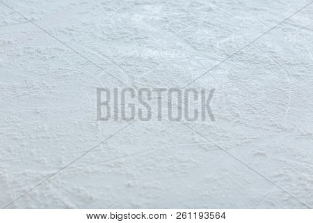 Empty Ice Rink For Hockey Playing Background