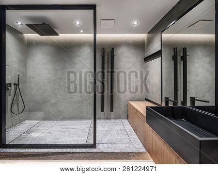 Private Home Interior In Soft Loft Style.